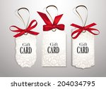 set of elegant gift cards with... | Shutterstock .eps vector #204034795