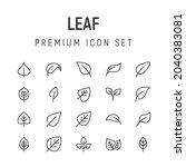 premium pack of leaf line icons....