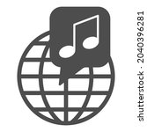 globe with note  music... | Shutterstock .eps vector #2040396281