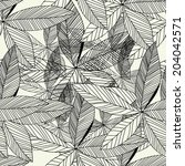 floral pattern seamless  eps 10   Shutterstock .eps vector #204042571