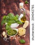 basil pesto  fresh basil herbs