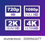 video dimension labels. video... | Shutterstock .eps vector #2040462677