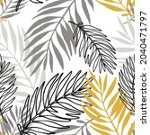 lush tropics foliage background.... | Shutterstock .eps vector #2040471797