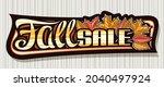 vector banner for fall sale ...   Shutterstock .eps vector #2040497924