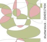 mid century abstract vector... | Shutterstock .eps vector #2040517454