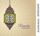 ramadan kareem  islamic style... | Shutterstock .eps vector #204052645