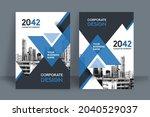 corporate book cover design... | Shutterstock .eps vector #2040529037