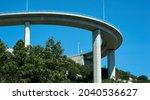 Bridge against the blue sky....