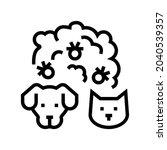 plague domestic animal line...   Shutterstock .eps vector #2040539357