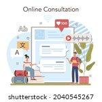 language school online service... | Shutterstock .eps vector #2040545267