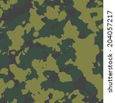 olive seamless camo texture...   Shutterstock .eps vector #204057217