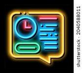 deadline of audit neon light... | Shutterstock .eps vector #2040588011