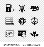 set bio fuel with fueling... | Shutterstock .eps vector #2040602621