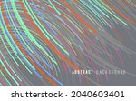 abstract graphics composed of... | Shutterstock .eps vector #2040603401