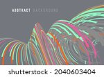 abstract graphics composed of... | Shutterstock .eps vector #2040603404