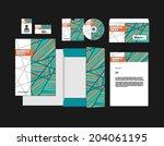 template for business artworks. ... | Shutterstock .eps vector #204061195
