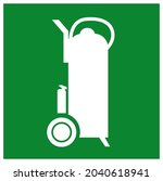 fire trolley symbol sign ...   Shutterstock .eps vector #2040618941