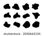 blob organic shape vector...   Shutterstock .eps vector #2040663134