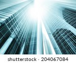 panoramic and perspective wide... | Shutterstock . vector #204067084