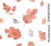 watercolor seamless pattern...   Shutterstock .eps vector #2040692444