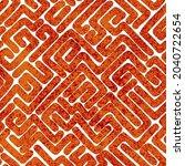 seamless african pattern.... | Shutterstock .eps vector #2040722654