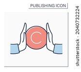 copyright color icon. copyright ... | Shutterstock .eps vector #2040732224