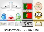 vector traveling and transport... | Shutterstock .eps vector #204078451