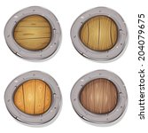 Постер, плакат: Comic Rounded Viking Shields
