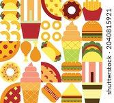 flat minimalist geometric fast...   Shutterstock .eps vector #2040815921