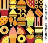 flat minimalist geometric fast...   Shutterstock .eps vector #2040815924