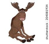 cartoon moose | Shutterstock . vector #204081934