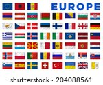 europe flags of all european... | Shutterstock . vector #204088561