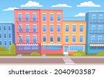 cartoon cityscape vector... | Shutterstock .eps vector #2040903587
