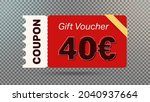 40 euro coupon promotion sale... | Shutterstock .eps vector #2040937664