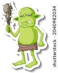 Green Goblin Or Troll Cartoon...