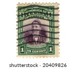 Old postage stamp from Cuba - stock photo