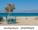 plaka beach in naxos island...   Shutterstock . vector #204098665