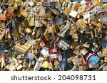 paris  france   june 2014  love ... | Shutterstock . vector #204098731