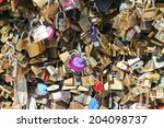 paris  france   june 2014  love ... | Shutterstock . vector #204098737