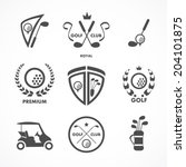golf sign and symbols   Shutterstock .eps vector #204101875
