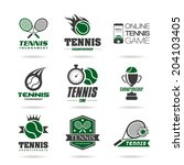 tennis icon set   3 . | Shutterstock .eps vector #204103405