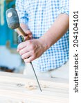 gouge wood chisel carpenter... | Shutterstock . vector #204104101