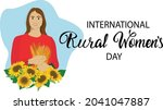 rural womens day banner. farm...   Shutterstock .eps vector #2041047887