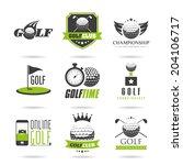 golf icon set   2 | Shutterstock .eps vector #204106717