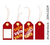 christmas sale tags | Shutterstock .eps vector #20411029