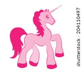 magical creature little unicorn ... | Shutterstock .eps vector #204110497