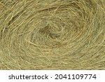 A Fresh Bale Of Hay As A...