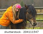 horseback riding in the... | Shutterstock . vector #204111547