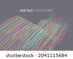 abstract graphics composed of... | Shutterstock .eps vector #2041115684