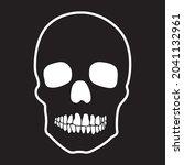 human skull on black background....   Shutterstock .eps vector #2041132961